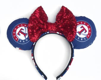 Texas rangers ears , texas rangers , baseball ears , mouse ears