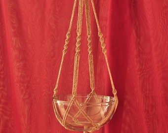 """Hand Crafted Macrame Plant Hanger- Pottery 35"""""""