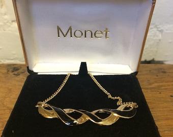 Vintage Monet Enamel Necklace Boxed