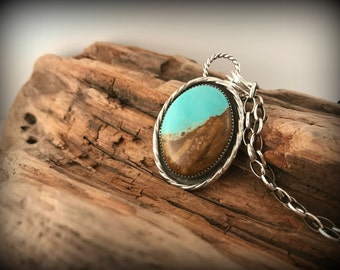 Beautiful Number 8 Mine Turquoise Sterling Silver Necklace