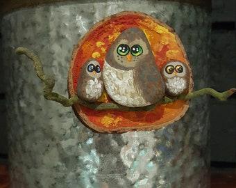 Autumn Owl Magnet - 038