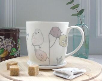 Garden Bird Mug - Bone China Mug - Chaffinch Mug - fine bone china mug - Gift For Bird Lovers - Coffee Mug - Tea Mug - Bone China Coffee Mug