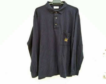 Vintage CD Christian Dior Monsieur  Polos Long Sleeve Made In Italy