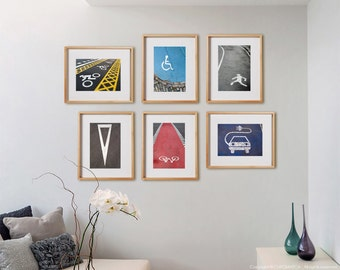 Urban Details 6 Mix Print Collection.  Detail photography, road signs, decor, wall art, artwork, large format photo.