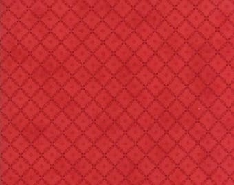 Farmhouse Reds - Floral Lattice Tonal Red by Minick & Simpson for Moda, 1/2 yard, 14857 21