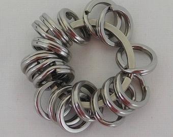 Stainless Steel Split Ring Fidget Toy, Flip Chain Fidget Toy, Autism, Stim Toy, ADHD, SPD, Sensory, Quiet Fidget, Pocket Fidget,