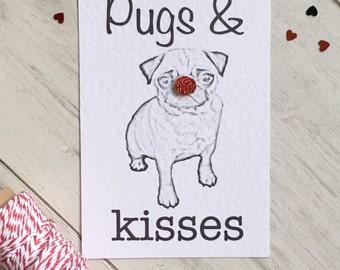 Pug Christmas Card, Pugs at Christmas, Funny Pug Card, Dog Birthday, Birthday Pug Card, Pug Greetings Card, Funny Pug Card, Birthday Card