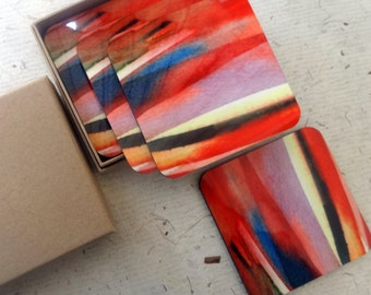 Red Glaze Coasters