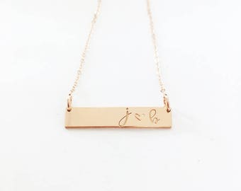 NEW Initial Classic Bar Layering Necklace
