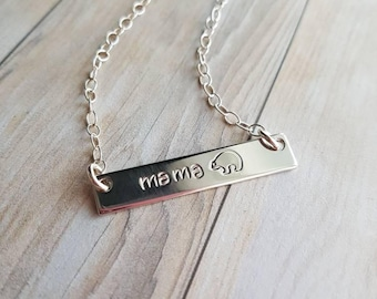 Mama bear - personalized necklace - mom gift - mom necklace - baby shower gift