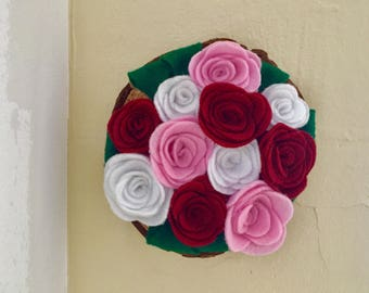 Rose Felt Wall Hang