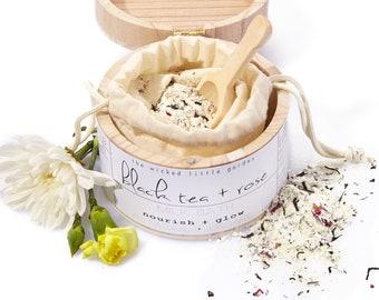 Black Tea + Rose| Milk bath| organic| bath soak| bath + beauty