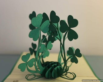 Shamrock pop-up card