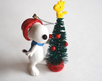 Vintage Snoopy Christmas Ornament