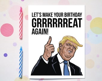 Boss birthday card etsy lets make your birthday great again funny birthday card humor greeting cards for friends family bookmarktalkfo Gallery