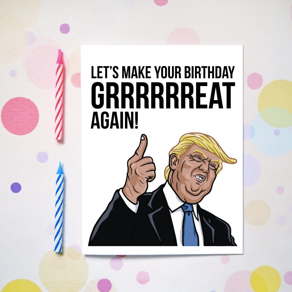 Lets make your birthday great again funny birthday card description lets make your birthday great again funny birthday card bookmarktalkfo Image collections