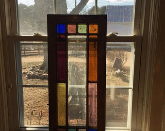 Antique Vintage Stain Glass Window Stained Glass