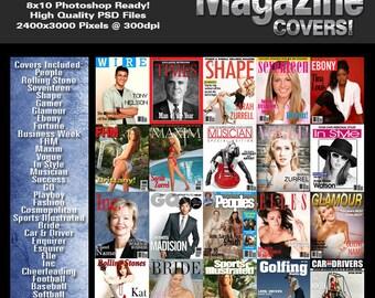 Magazine Covers V1 Photoshop Template Set