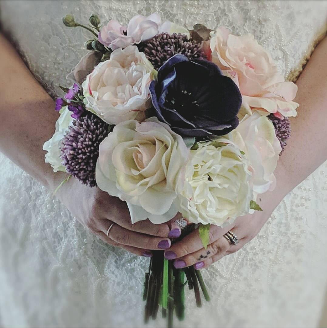 Bouquet wedding flowers real touch silk flowers ready to zoom mightylinksfo