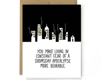 Funny Valentine Card - Doomsday Apocalypse