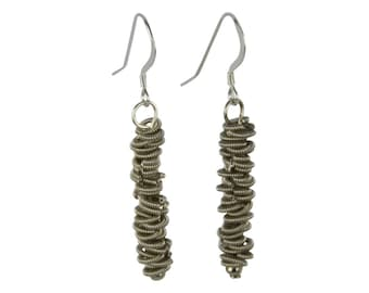 Staccato Guitar String Dangle Earrings