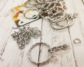 DIY jewelry accessory key ring chain Keychain accessories handmade materials, keychain supply ( 10Pcs/set)