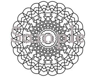 Printable Coloring Mandala