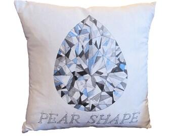 Pear Shape Diamond Pillow