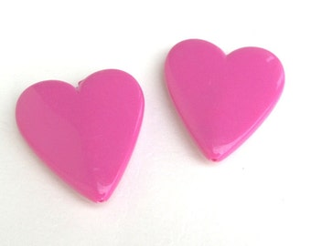 Bulk B69, 46m*40mm, 50 CT, Large Pink Heart Chunky Beads, Valentine's Day, Acrylic, Bubblegum Beads, perfect for Easter