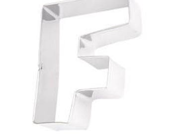 Eddingtons Stainless Steel Alphabet Letter Biscuit Cookie Pastry Cutters - F