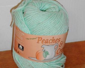 Peaches and Cream, Cotton Yarn, Baby Green
