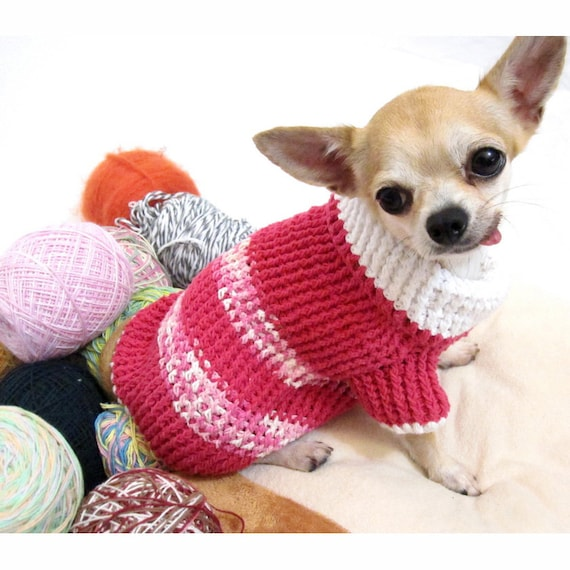 Rosa Hundepullover warme Strickpullover Welpen Kleidung