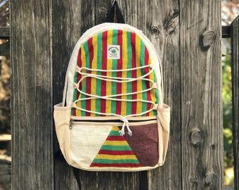 Colored Pure Hemp Handmade backpack
