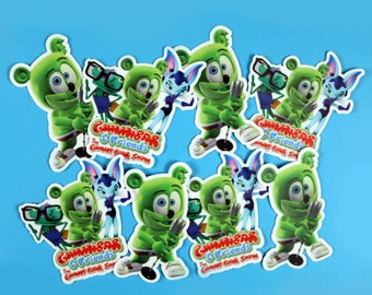Gummibär & Friends: The Gummy Bear Show Die Cut Sticker Set of 8