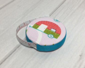 Camping Time (A) Fabric Covered Retractable Tape Measure