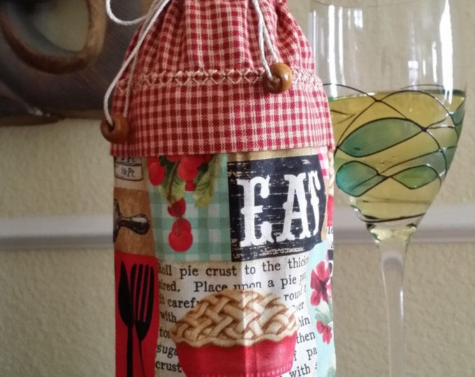 Wine Bag-Deluxe-Country Collection (Ivory Trim)