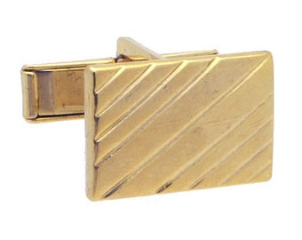 Antique/Vintage Gold tone Rectangle Cufflinks #1414