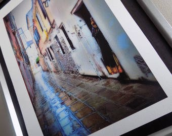 Ponder: limited edition A4 Giclee print. Rainy Venice. Runner up in photography competition.