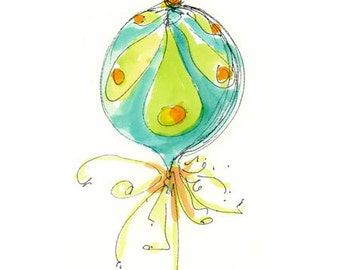 """LARGE ORNAMENT 2...Clipart / Digital Download / 300 dpi/ hi resolution of Original Watercolor . 8""""x10"""" Great for any application."""