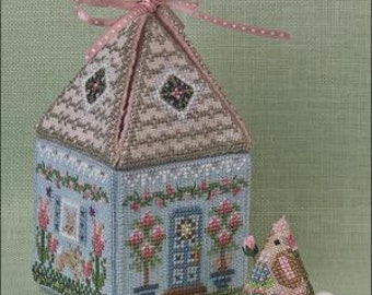 Cloverly's Bunny Bungalow | Just Nan | Counted Cross Stitch Embroidery Kit | 2018 Limited Edition | JN301LE | Mother's Day Gift