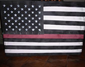 Thin Red Line Fire Hose Flag