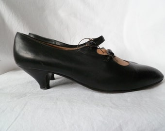 Italian Leather 80ies Vintage Mary Janes size 39