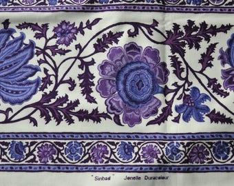 Jonelle Duracolour Sinbad fabric 1970s  purples 1.5m reclaimed