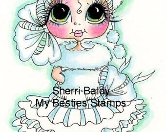 INSTANT DOWNLOAD Digital Digi Stamps Big Eye Big Head Dolls Digi  My - Besties  Winter Wonder Snow Ball  By Sherri Baldy