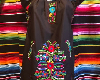 Off shoulder Puebla Mexican dress embroidery ladies womens small medium large xlarge plus bridesmaid
