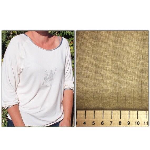 Bronze cotton/viscose jersey