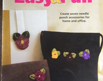 BOOK: Needle Punch - Easy & Fun Needle Punch by Clover - 7 projects