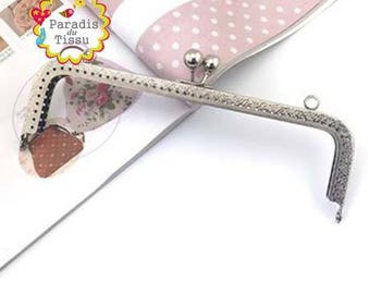 5 x large clasp with 20cm Classic Vintage silver K278 bag