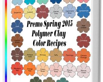 Premo Spring 2015 Polymer Clay Color Recipe Ebook