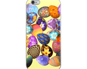 All Over Easter Eggs on Yellow Cell Phone Case iPhone Case 6 Plus, 6/6s, 7 Plus, 8 Plus, X